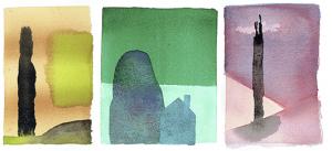 3 mini-aquarellen - watercolour
