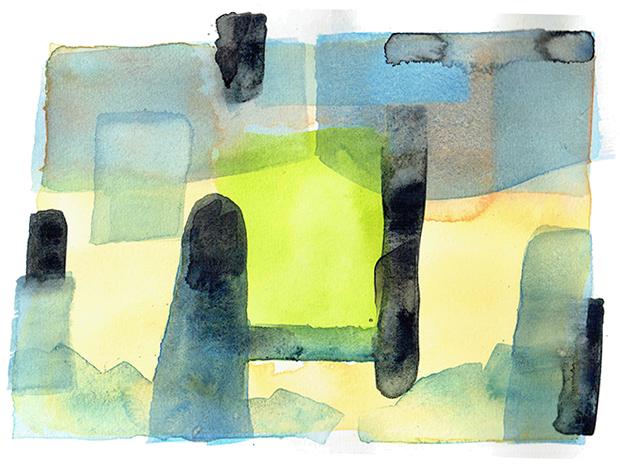 aqua 14 - watercolor - 20 x 14 cm