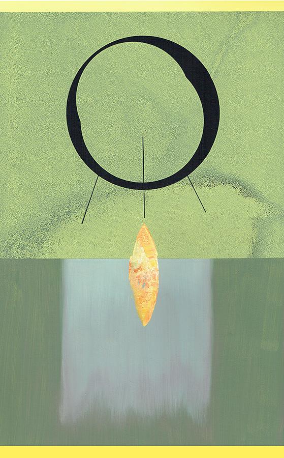 landing - colored screenprint - 35 x 25 cm