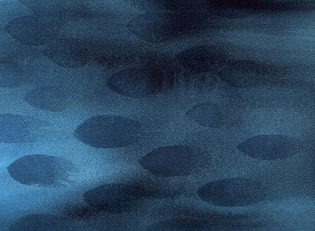 ocean - watercolor - 19 x 14 cm