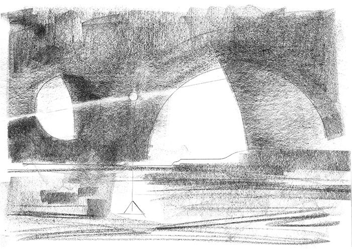 planetary sketch - pencil - 24 x 16 cm
