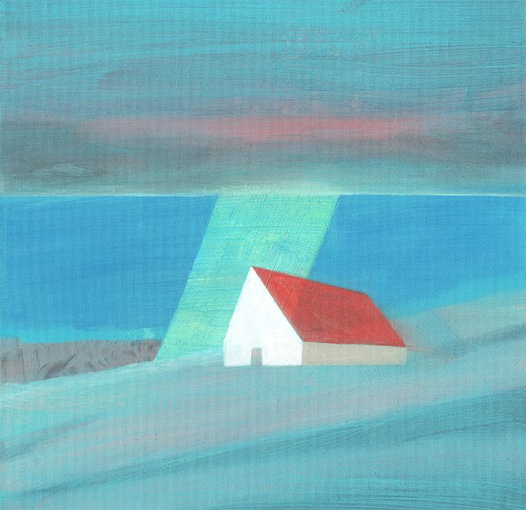 sunbeam - oil - 30 x 30 cm