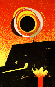 rendezvous - screenprint - 34 x 22 cm