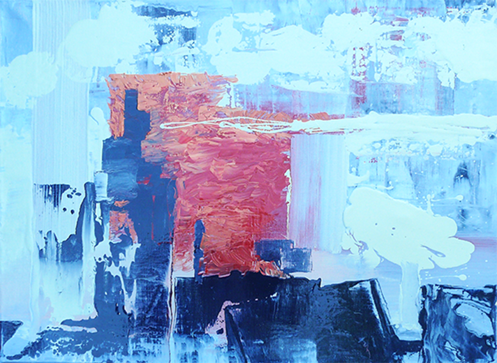 abstract 6 - oil - 60 x 80 cm