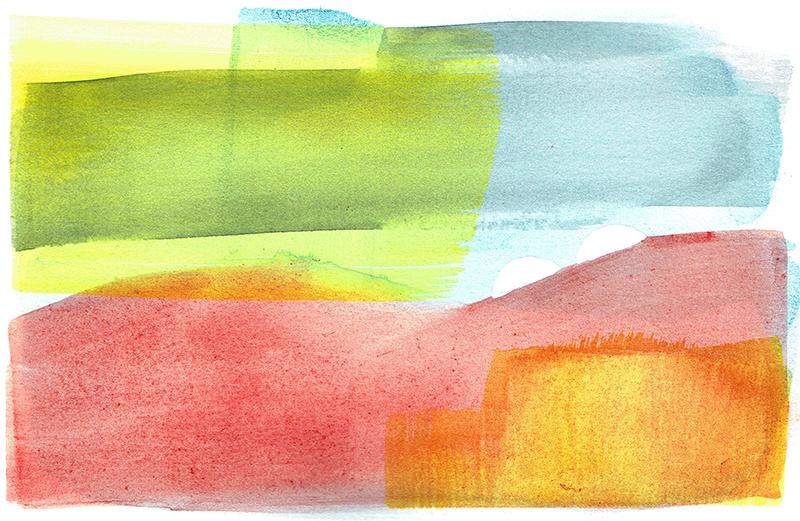 aqua 12 - watercolor - 18 x 12 cm