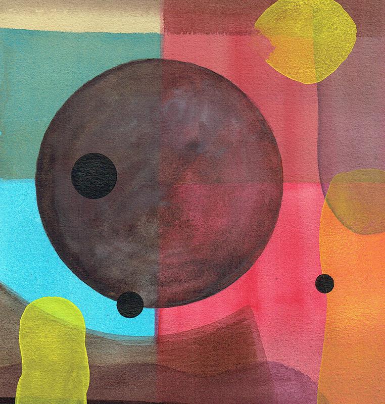 aqua 15 - watercolor - 26 x 26 cm