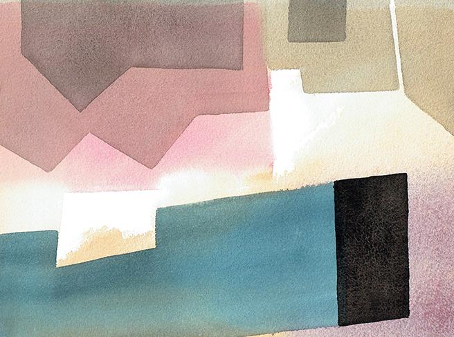 aqua 17 - watercolor - 29 x 20 cm