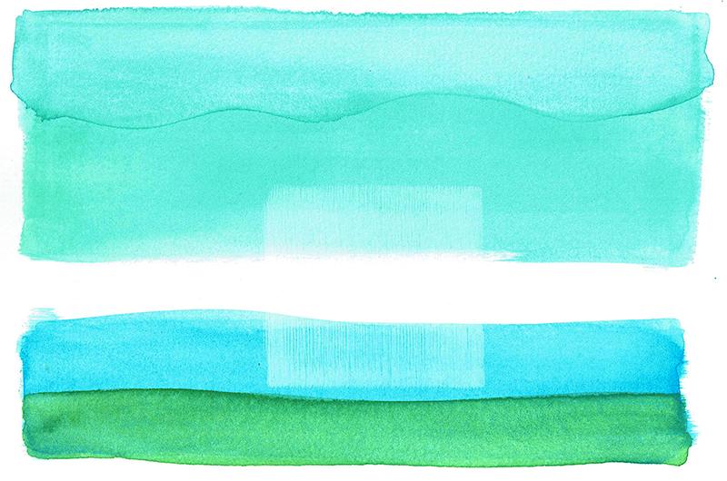 aqua 18 - watercolor - 18 x 12,5 cm