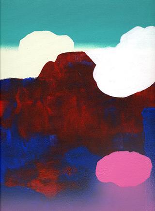 landschap 3 - acrylics - 28 x 20 cm